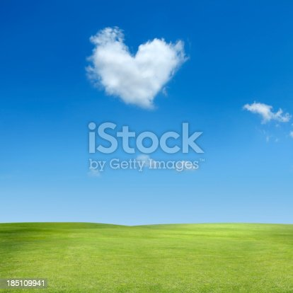 istock heart shaped cloud 185109941