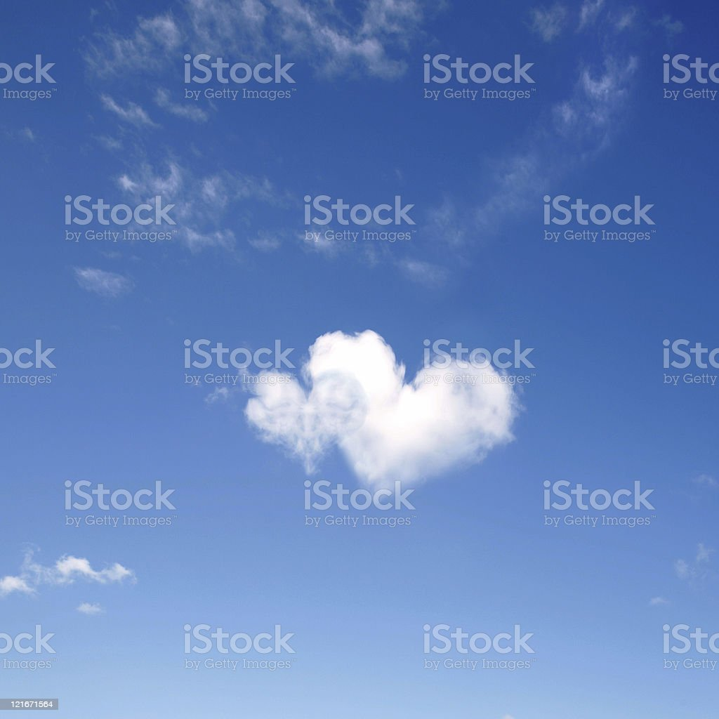 heart shaped clouds royalty-free stock photo