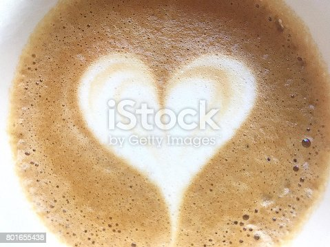 istock Heart Shaped Coffee Drink 801655438