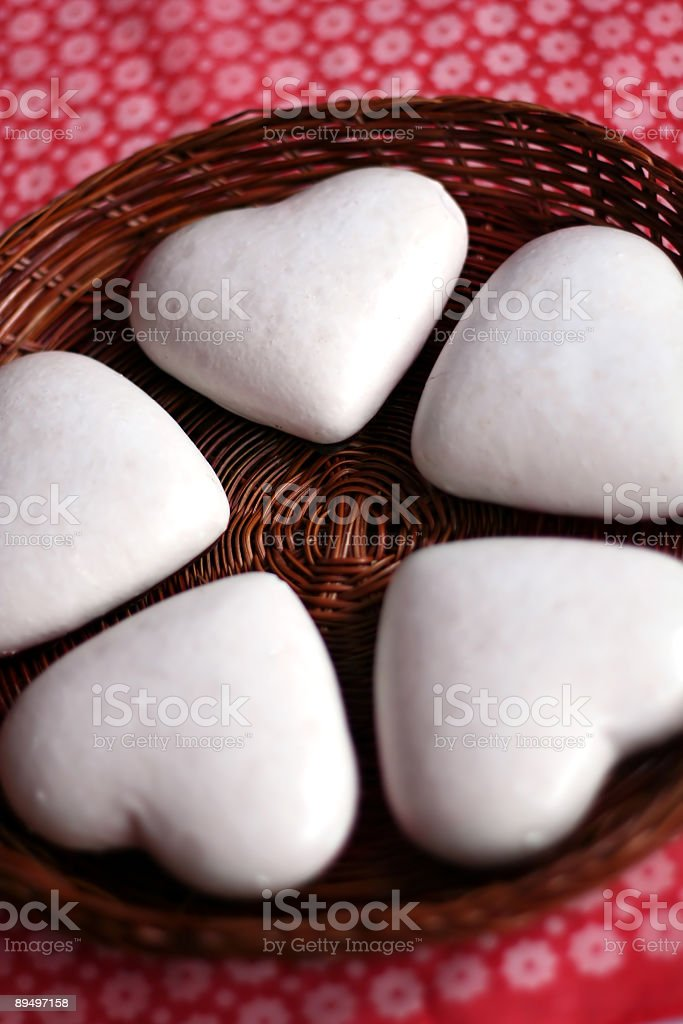 heart shaped cookies royaltyfri bildbanksbilder