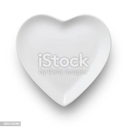Heart shaped dish. Photo with clipping path. Similar pictures from my portfolio: