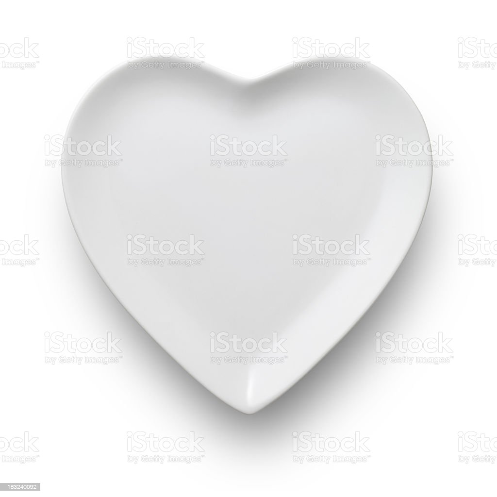 Heart shaped dish stock photo