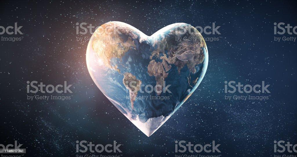 心形地球 - 免版稅一起圖庫照片
