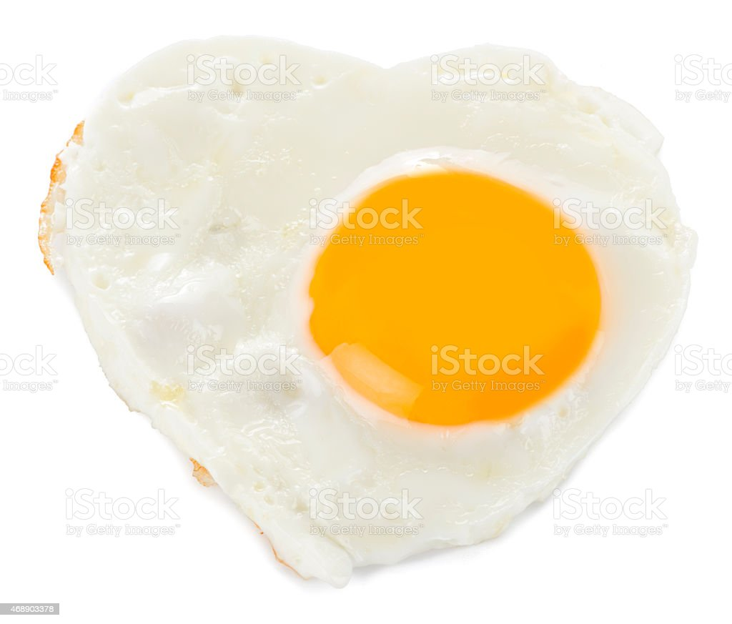 Heart Shaped Egg Isolated stock photo