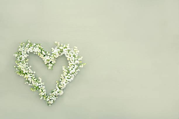 Heart shaped flower wreath stock photo