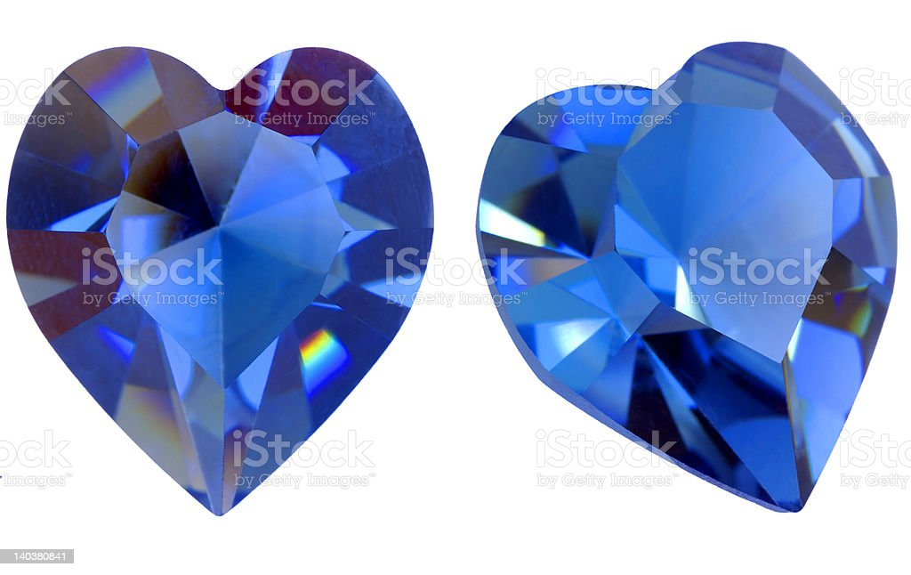 Heart shaped gem royalty-free stock photo