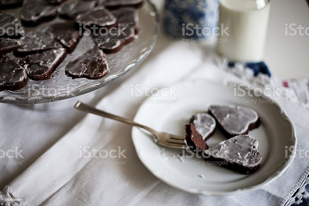 Heart shaped ginger cakes royalty-free stock photo