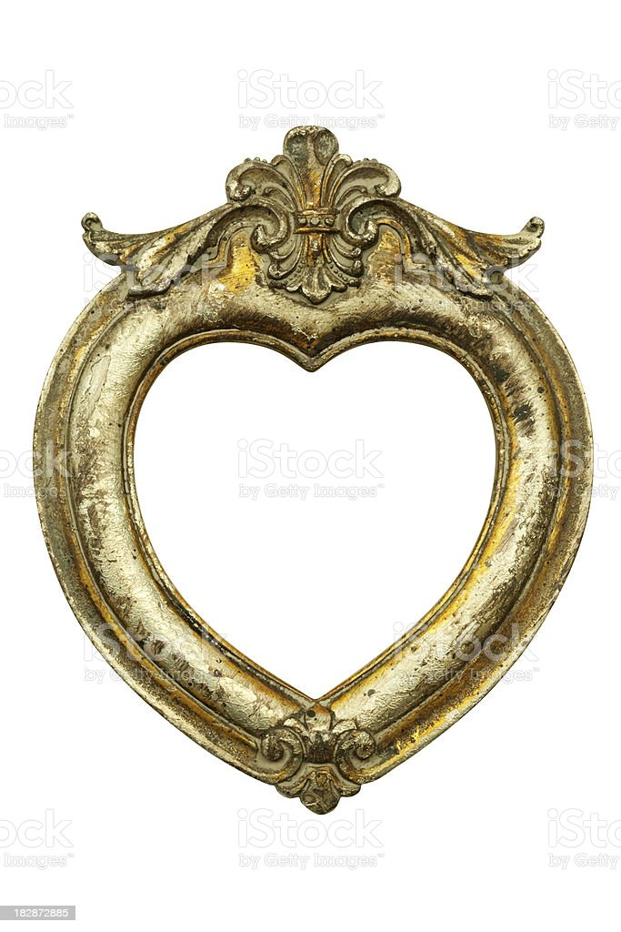 Heart Shaped Gold Frame Stock Photo More Pictures Of Antique Istock