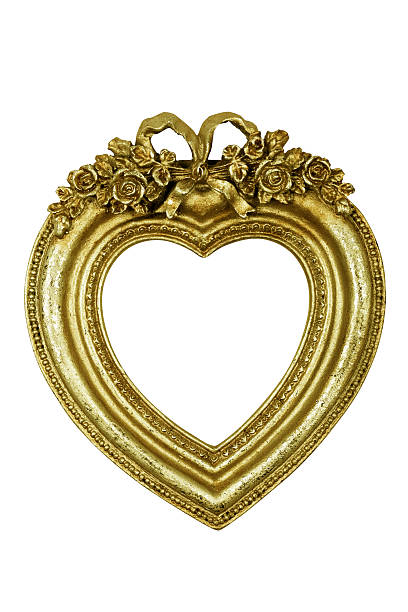 Royalty Free Picture Frame Gold Heart Shape Baroque Style Pictures ...