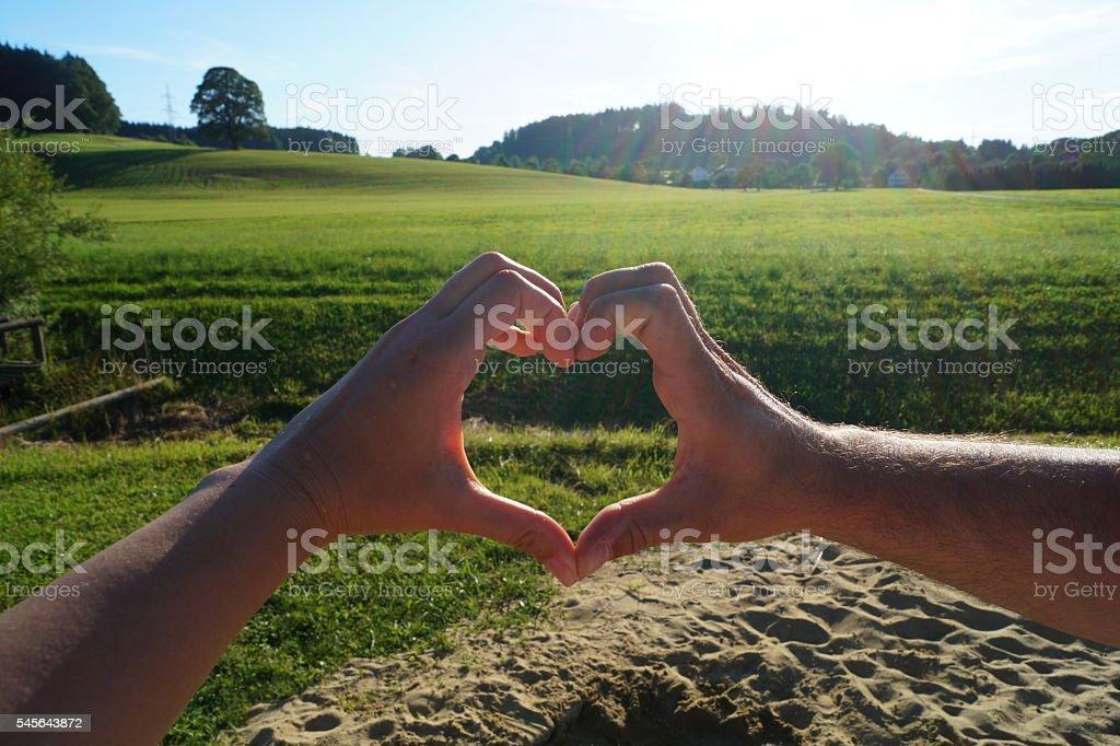 Heart Shaped Hands stock photo