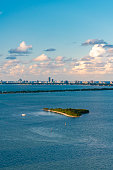 Heart Shaped Island called Pace Picnic Island in Miami, Florida