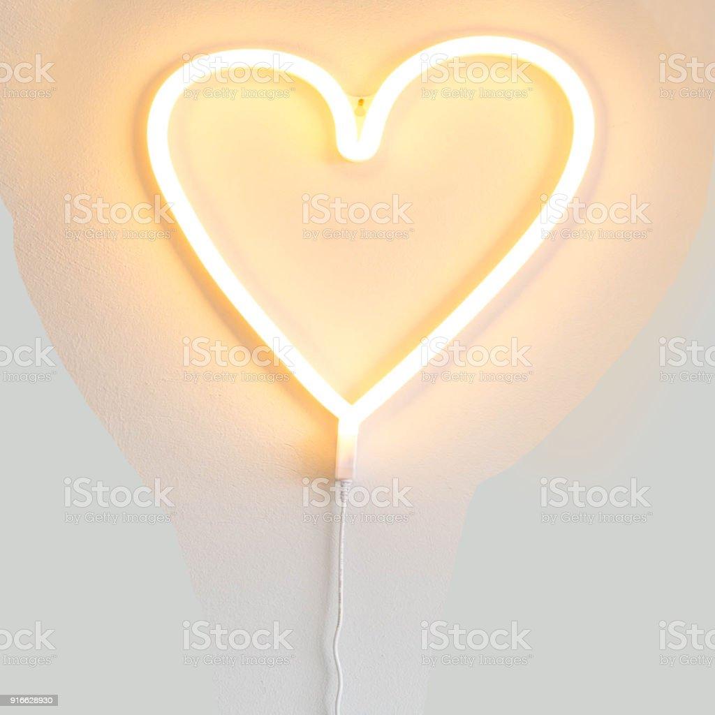 Herzförmige Neonlicht Valentine Hintergrundtextur – Foto