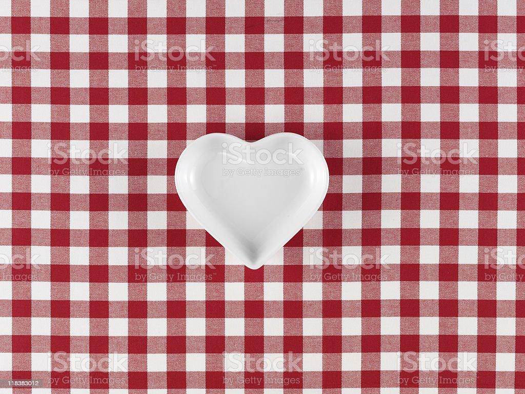 Heart shaped plate royalty-free stock photo