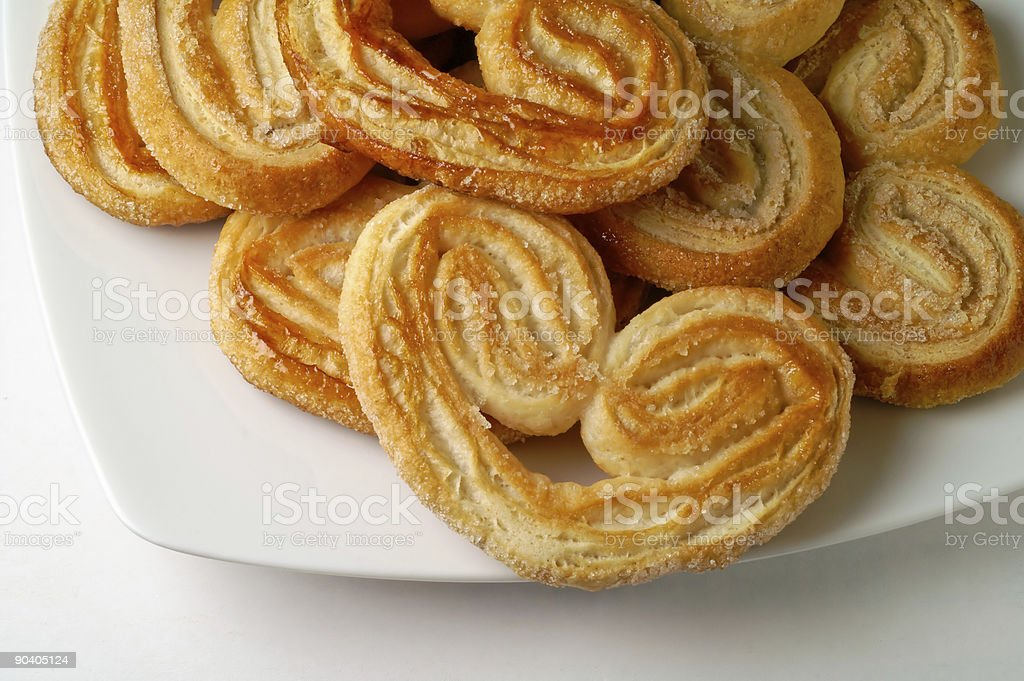 Heart shaped puff pastry in a dish (3) royalty-free stock photo