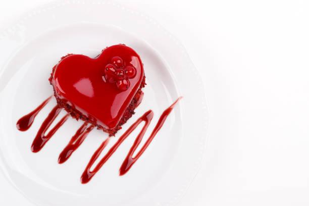 Herzförmige rotem Samt Kuchen – Foto