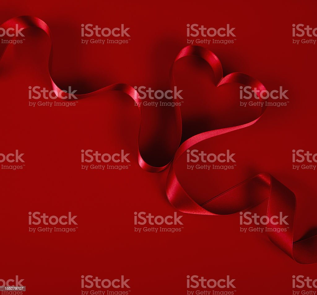 Heart shaped Ribbon royalty-free stock photo