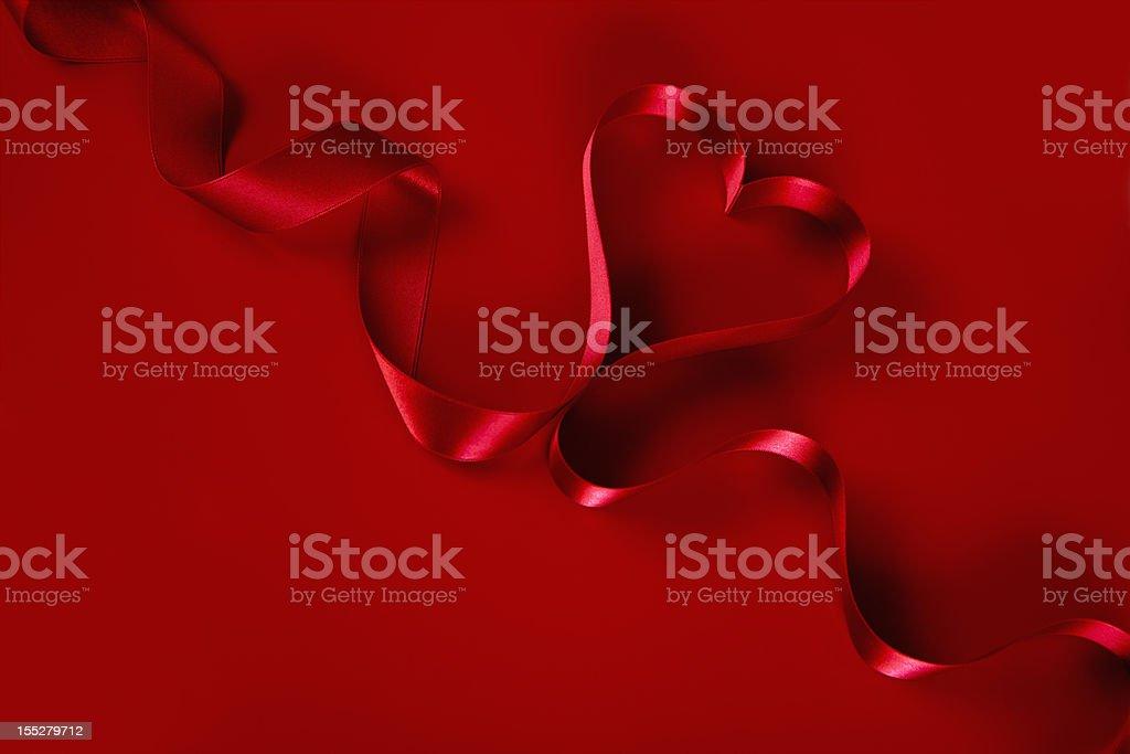 Heart shaped Ribbon royalty-free stock photo