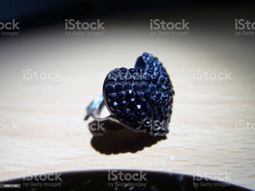 Heart shaped ring stock photo
