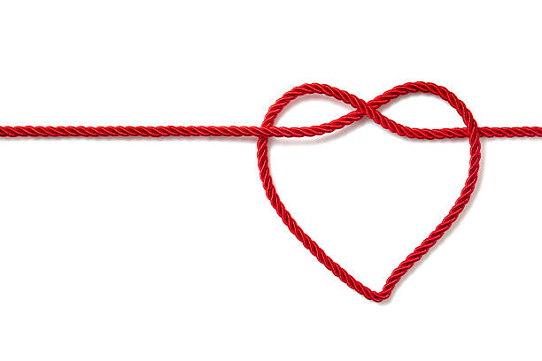 heart shaped rope - string stock photos and pictures