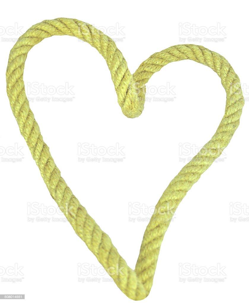 Heart shaped rope stock photo