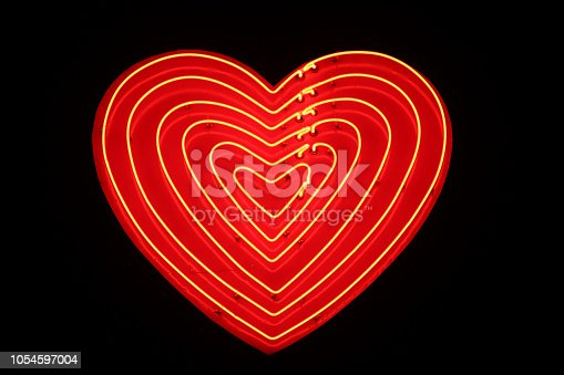 Heart Shaped Sign at night