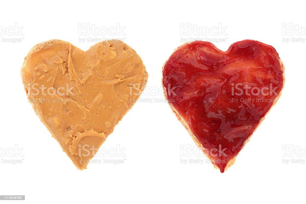Heart Shaped Snack stock photo
