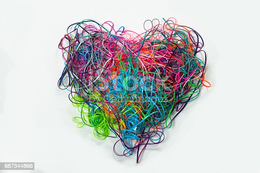 istock Heart Shaped Tangled Lanyard Strings 687344866