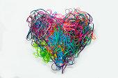Heart Shaped Tangled Lanyard Strings