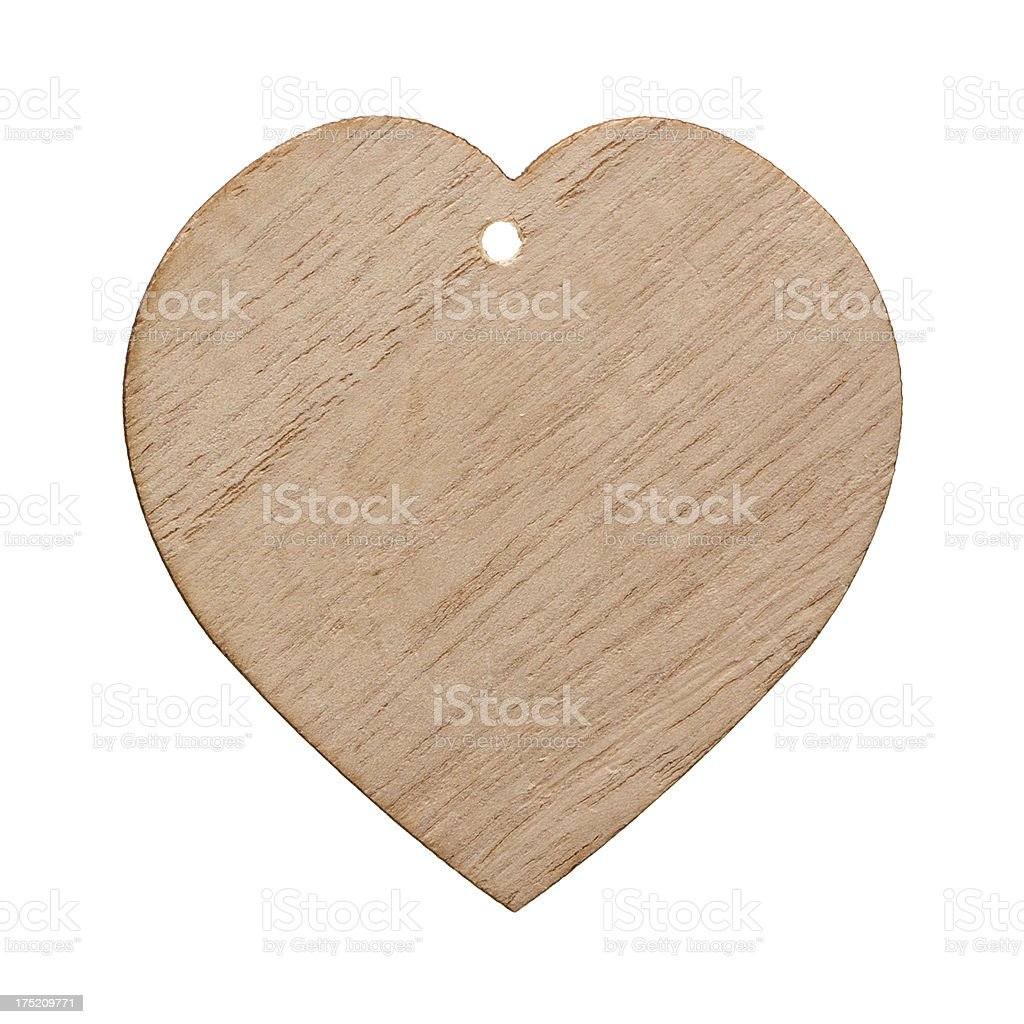 Heart shaped wooden isolated on white background royalty-free stock photo