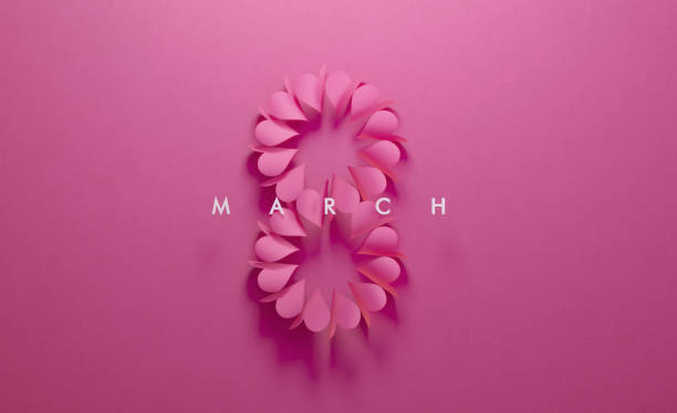 Herz Formen bilden acht auf rosa Hintergrund – Foto