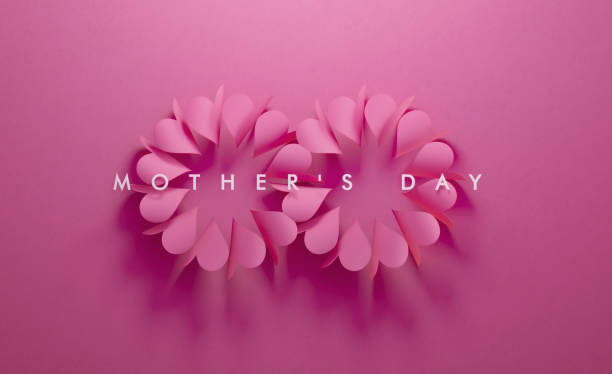 heart shapes forming eternity symbol on pink background - mothers day stock pictures, royalty-free photos & images