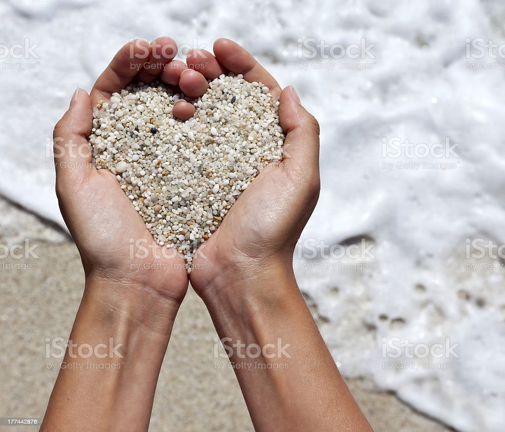 heart shaping female hands stock photo
