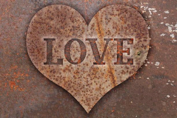 Heart sign on metal – zdjęcie