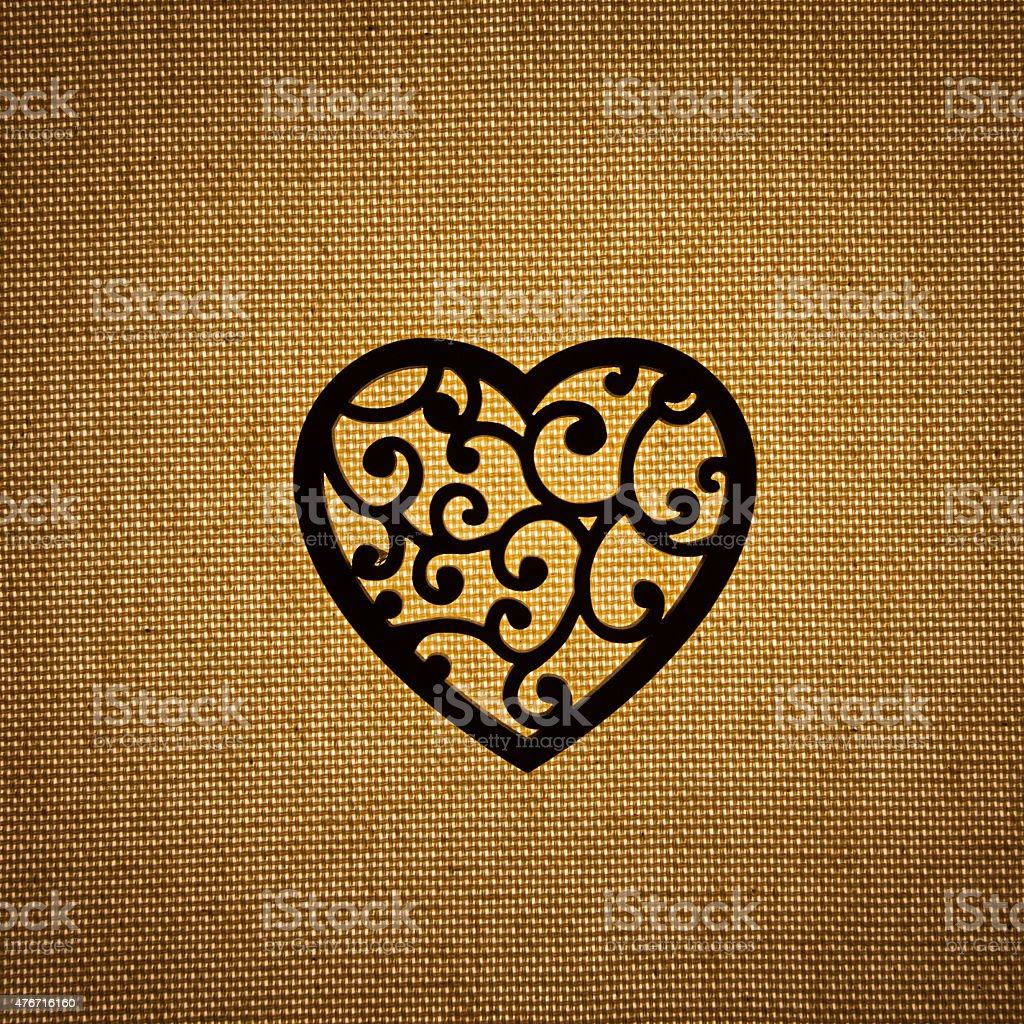 heart silhouette stock photo