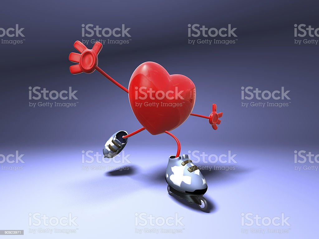 Heart skating stock photo