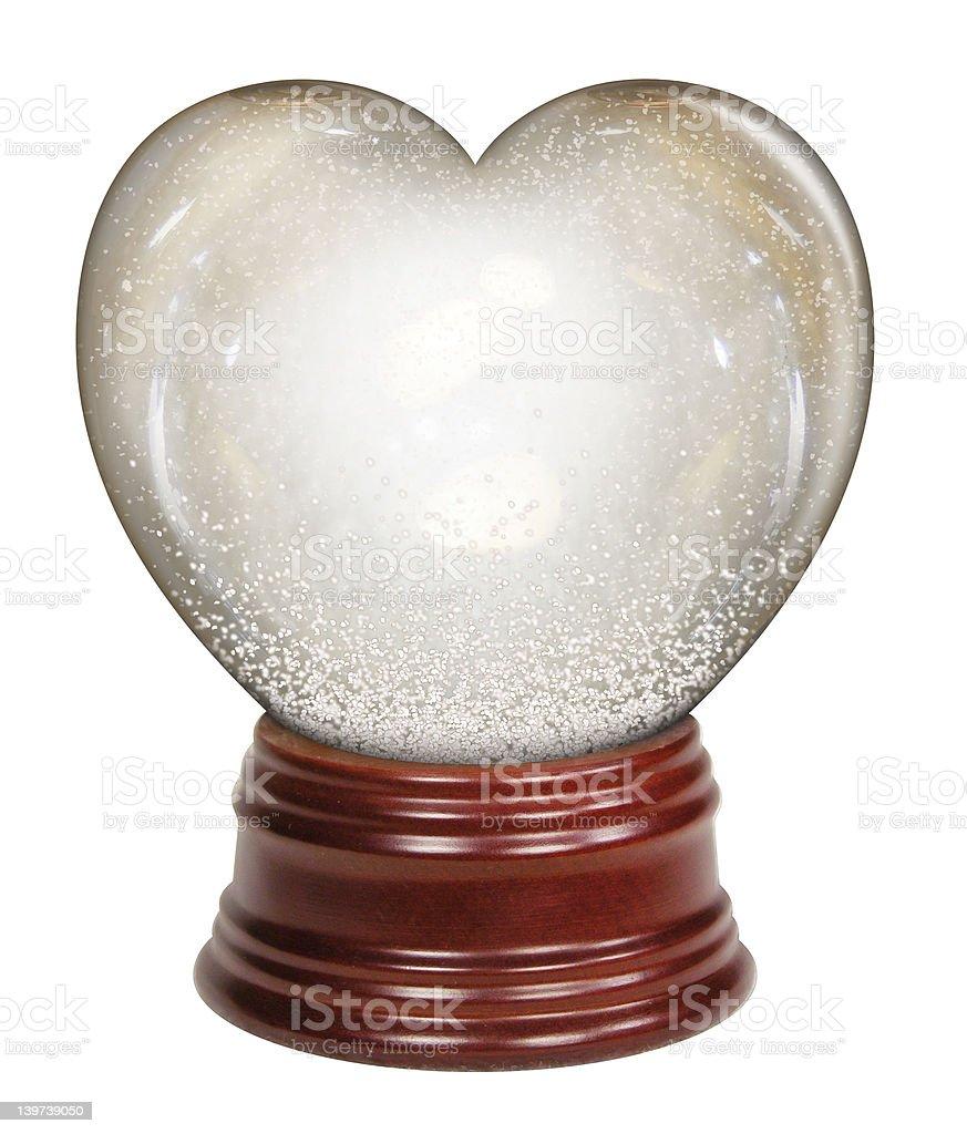 Heart Snow Globe royalty-free stock photo