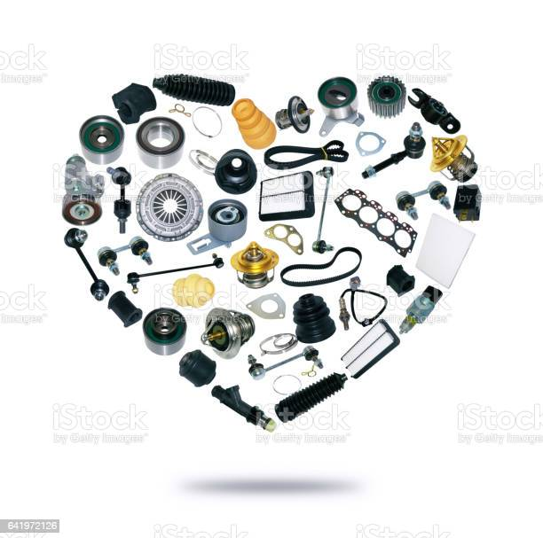 Heart spare parts car on the white background picture id641972126?b=1&k=6&m=641972126&s=612x612&h=8setlmzduf8nyvhokll8 vkldp2am79i2cksly67kh4=