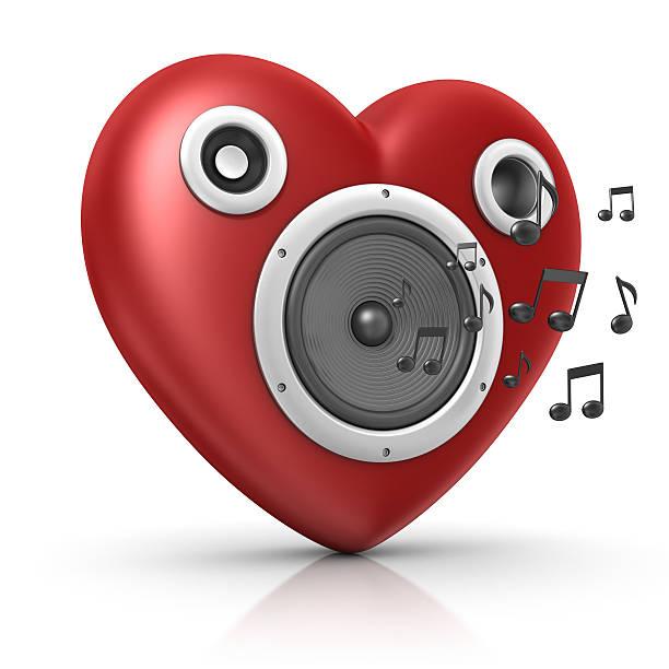 coração de som - desenhos de notas musicais - fotografias e filmes do acervo
