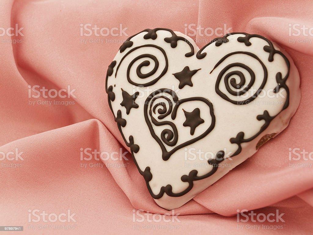 heart spice cake royalty-free stock photo