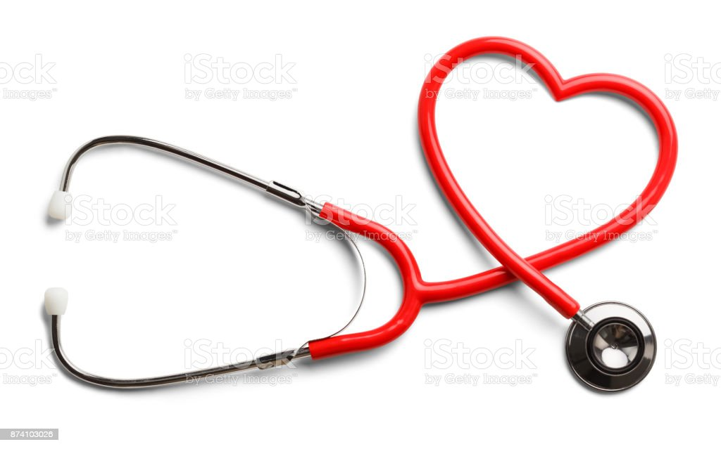 Heart Stethoscope stock photo