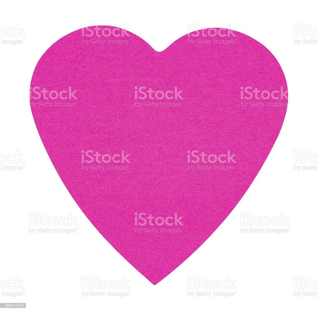 Adesivi etichetta di cuore, isolato su sfondo bianco foto stock royalty-free