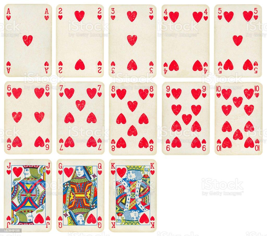 Costume de coeur du vieux jeu de cartes (qualité - Photo