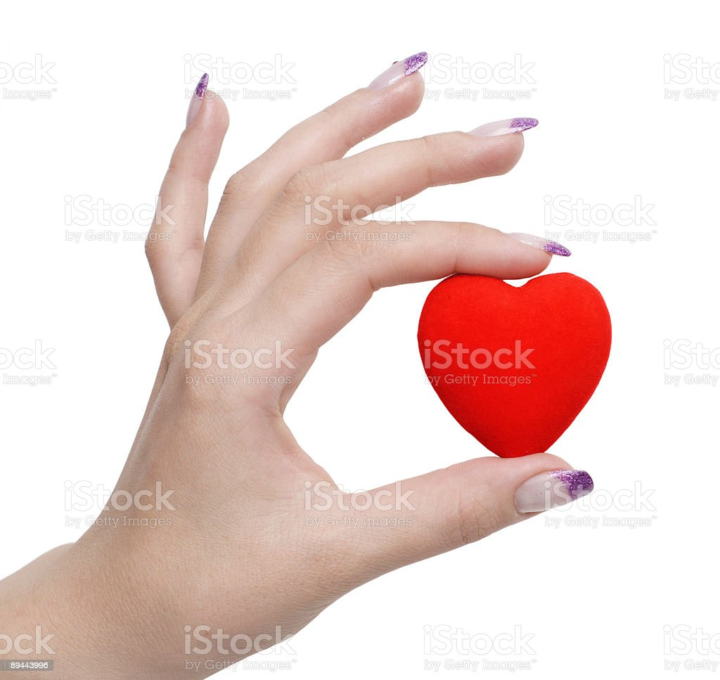 heart symbol in hand royalty-free stock photo