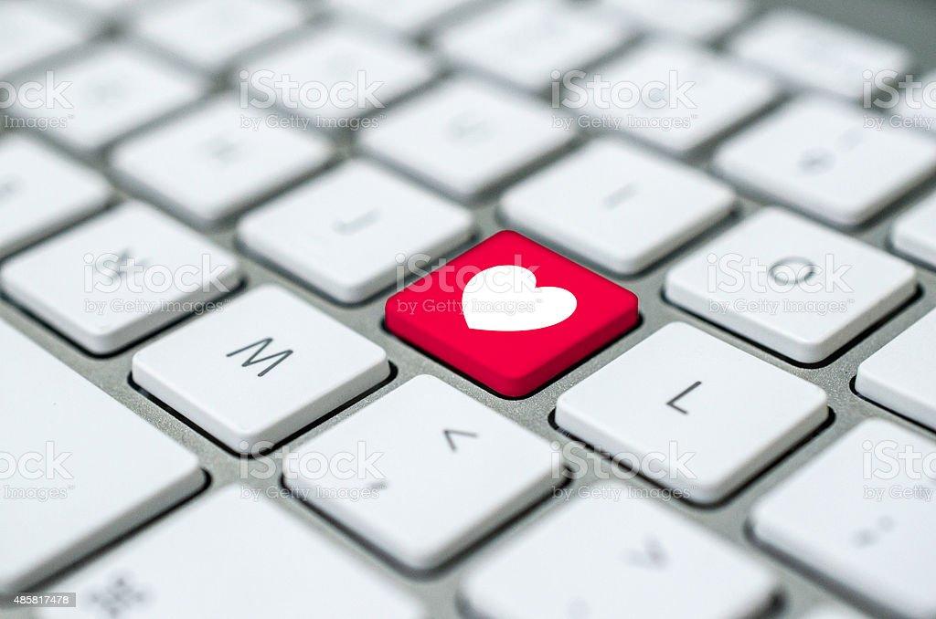 Heart Symbol On Computer Key Stock Photo Istock