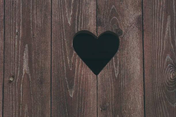 Herz-symbol auf einer Toilette Tür – Foto