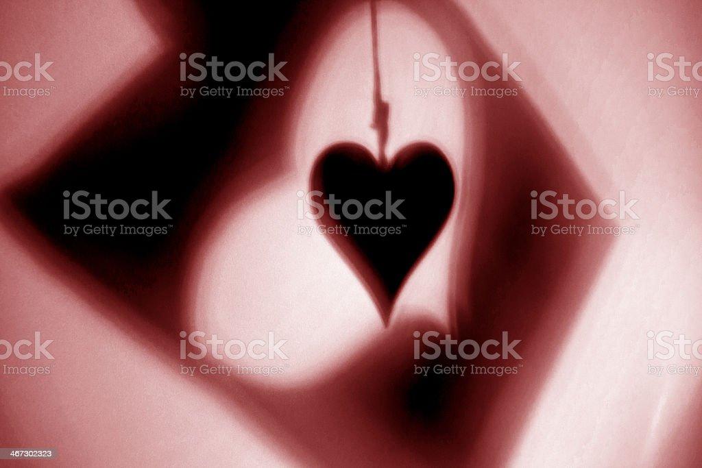 Heart Symbols Shadows royalty-free stock photo