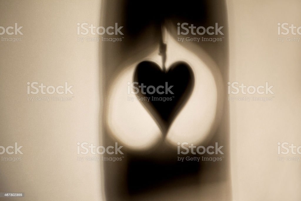 Heart Symbols Shadows royalty-free stock photo