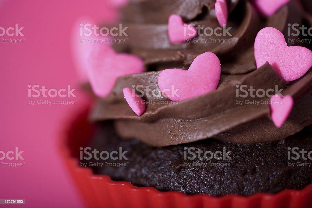 Heart themed cupcake royalty-free stock photo
