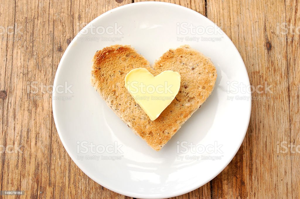 Heart toast stock photo
