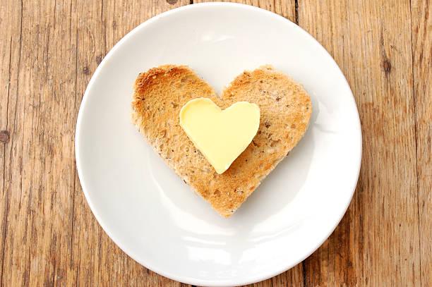 Heart toast stock photo